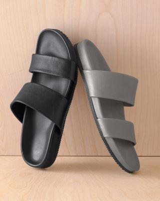 Lena Italian Leather Slides