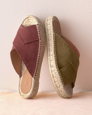 Salva Slip-On Suede Espadrille Sandals