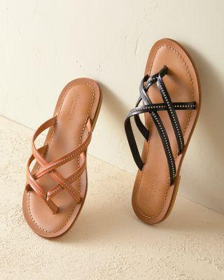 Amelia Studded Italian Leather Sandals