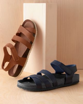 Arie Ankle Strap Leather Sandals
