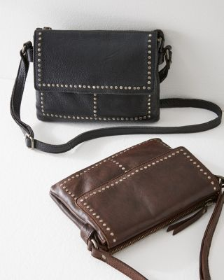 Latico Stud-Detail Leather Cross-Body Bag