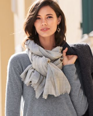 Vismaya Cotton Plaid Scarf