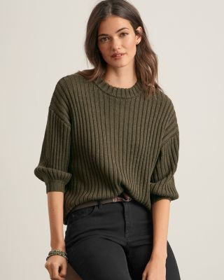 Velvet by Graham & Spencer Ribbed Mock-Neck Pullover Sweater