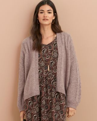Velvet by Graham & Spencer Light Alpaca Cardigan Sweater