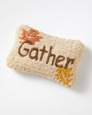 Gather Hooked Wool Pillow