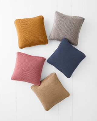 Cotton Chunky-Knit Pillow Cover