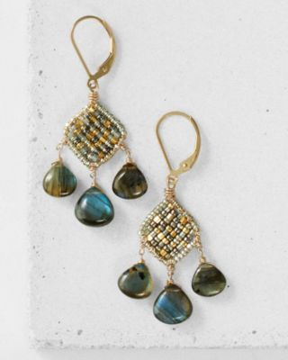 Dana Kellin Labradorite Chandelier Earrings