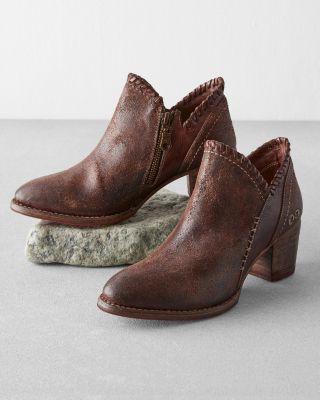 BEDSTU Carla Handmade Leather Booties