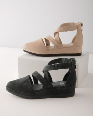 EILEEN FISHER Bovery Tumbled Leather Shoes
