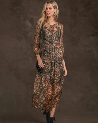 Jade by Johnny Was Jolene Printed Silk Maxi Dress