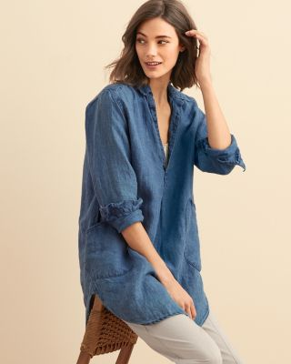 CP Shades Teton Linen Tunic Top