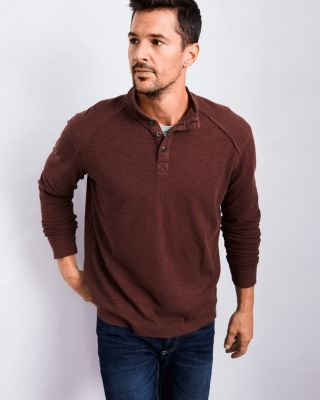 Men's Declan Organic Cotton Henley Top by Ecoths