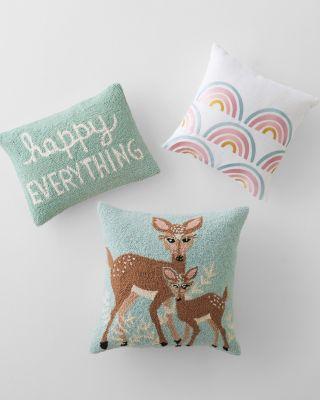 Hello Deer Kids Wool Pillow