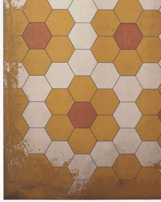 Daisy Tile Vinyl Floorcloth By Spicher and Company