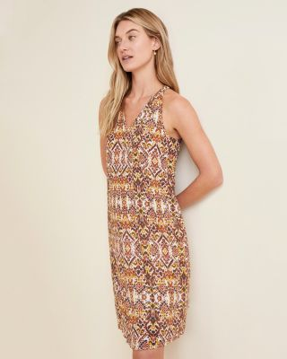 Easy Sleeveless Cotton-Gauze Swim Cover-Up
