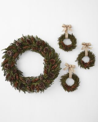 Cedar & Pinecone Wreath Collection