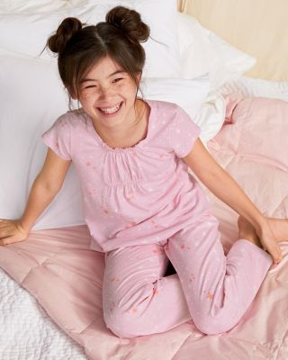 Girls' Smocked Ruffle Pajamas