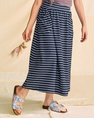 Girls' Pocket-Detail Organic Cotton Maxi Skirt
