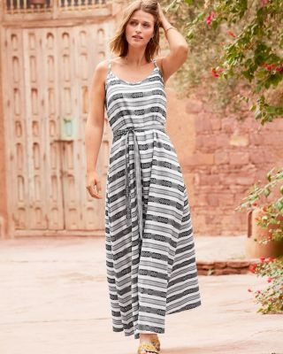 Cotton Jacquard Maxi Dress