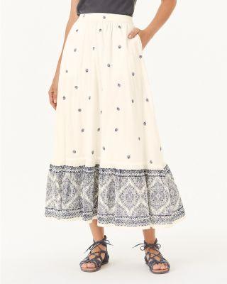 Khadi Organic Cotton Voile Maxi Skirt