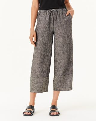 Cropped Linen Beach Pants