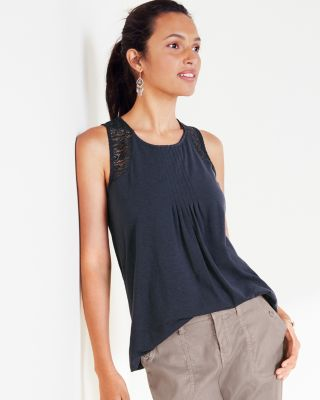 Lace-Inset Swing Tank Top