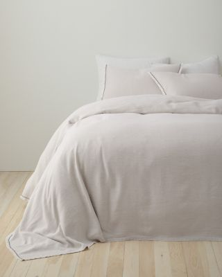 EILEEN FISHER Rustic Organic-Cotton & Linen Bedspread and