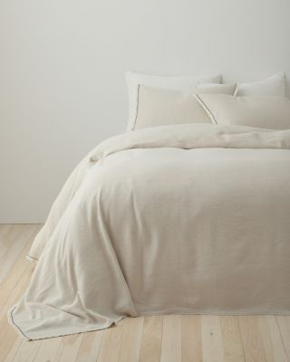 EILEEN FISHER Rustic Organic-Cotton & Linen Sham