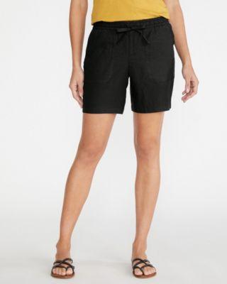 Linen Pull-On Shorts 7 inseam