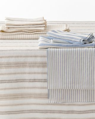 Relaxed-Linen Stripe Table Collection