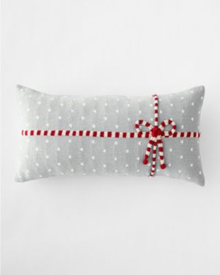 Holiday Knit Gift Decorative Lumbar Pillow With Insert