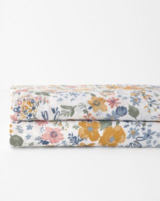 Sun Valley Floral Relaxed-Linen Sheets