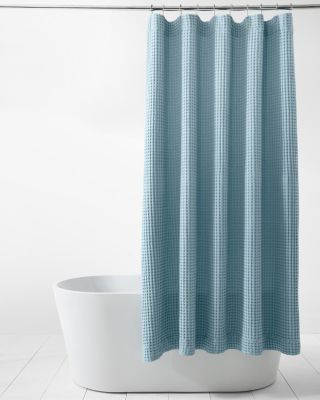 Chunky Waffle-Weave Organic Cotton Spa Shower Curtain