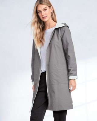 EILEEN FISHER Organic-Cotton & Nylon Reversible Hooded Jacket