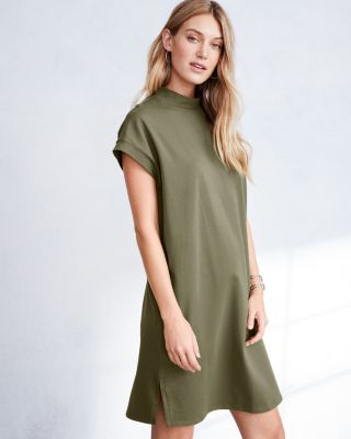 EILEEN FISHER Organic-Cotton-Jersey Mock-Neck Dress