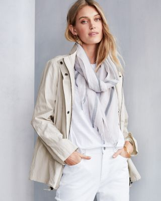 EILEEN FISHER Organic-Cotton & Steel A-Line Jacket