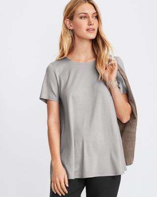 EILEEN FISHER Fine TENCEL-Jersey Short-Sleeve Top