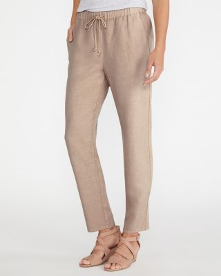 EILEEN FISHER TENCEL™ & Linen Drawstring Ankle Pants
