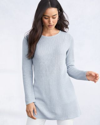 EILEEN FISHER Organic-Linen & Organic-Cotton Tunic Sweater