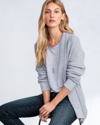 EILEEN FISHER Peruvian Organic-Cotton Kimono Cardigan Sweater