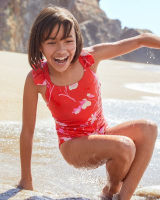 Girls' Maaji Flounce-Sleeve One-Piece Swimsuit
