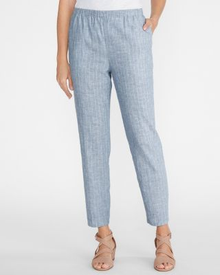 EILEEN FISHER Hemp & Organic-Cotton Ankle Pants Petite