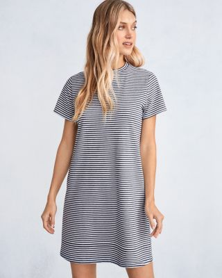 EILEEN FISHER Organic-Cotton-Jersey Crewneck Dress Petite
