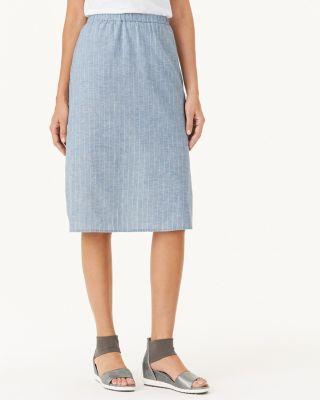 EILEEN FISHER Hemp & Organic-Cotton Knee-Length Skirt Petite