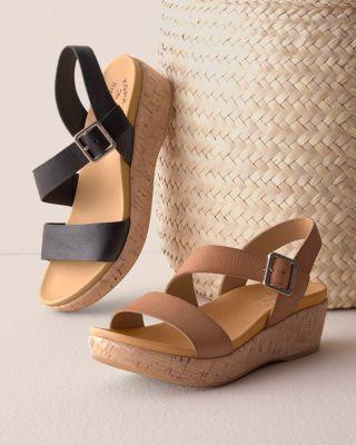 Kork-Ease Minihan Leather Wedge Sandals