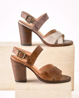 BEDSTU Inez Tumbled Leather Strappy Shoes