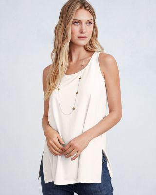 EILEEN FISHER Fine TENCEL-Jersey Scoop-Neck Tank