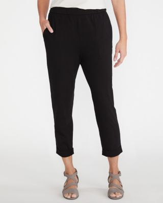 EILEEN FISHER Organic-Cotton-Jersey Cuffed Pants Petite