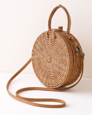 Beachgold Woven Cross-Body Bag