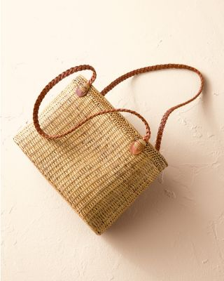 Beachgold Handcrafted Rattan Basket Tote